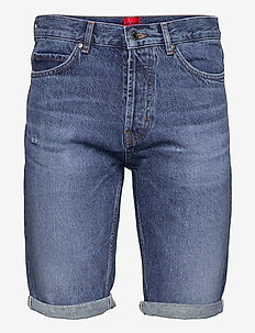 HUGO 634/S - denim shorts - medium blue