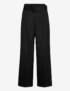 Hugesa - bukser med brede ben - black