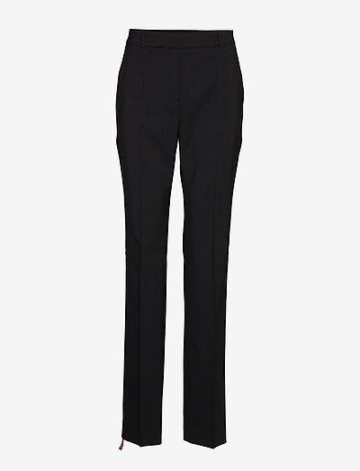 The Regular Trousers - bukser med lige ben - black