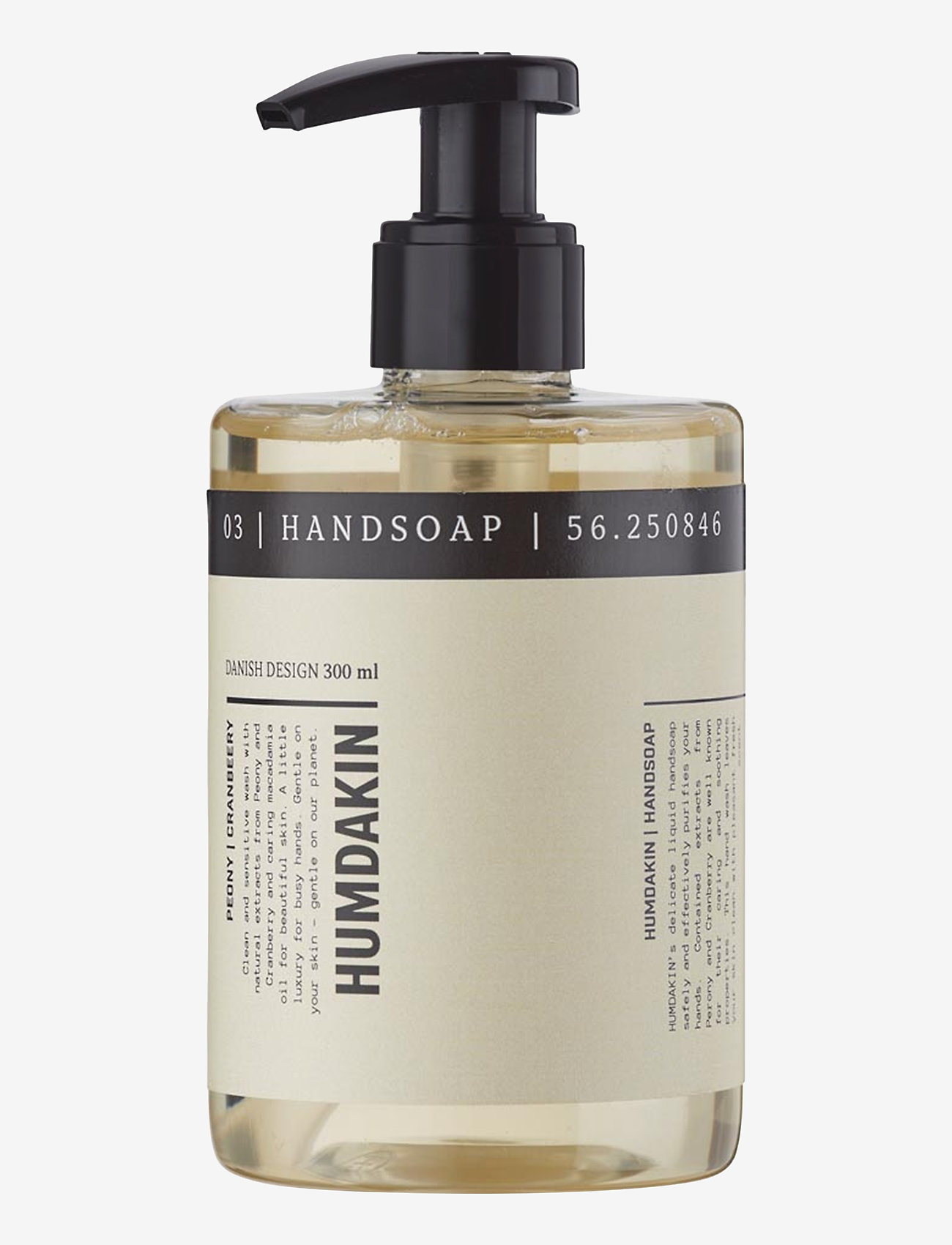 Humdakin - 03 hand soap - peony and cranberry - handtvål - clear - 1