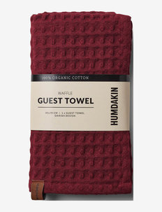 Guest waffle towels - handdukar & badlakan - violet plum