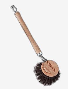 Round dish brush - horse hair - disktrasor & diskborstar - clear