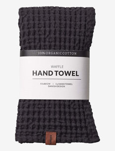 Waffle hand towel - handdukar - coal