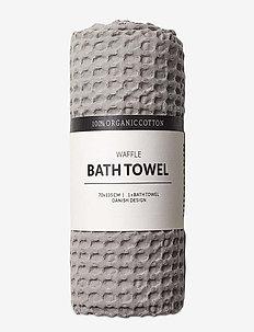Waffle bath towel - handdukar - stone