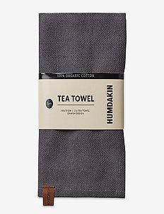 Organic tea towel - 2 pack - kökshanddukar - dark ash