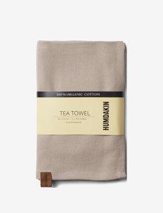 Organic tea towel - 2 pack - kökshanddukar - light stone