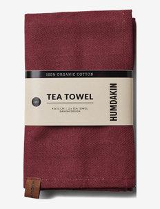 Organic tea towel - 2 pack - kökshanddukar - violet plum