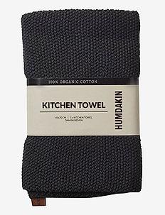 Knitted kitchen towel - viskestykker - coal