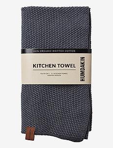 Knitted kitchen towel - kökshanddukar - dark ash