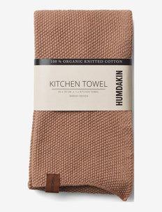 Knitted kitchen towel - kökshanddukar - latte