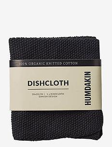 Knitted dish cloth - karklude & opvaskebørster - coal
