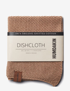 Knitted dish cloth - rätit ja tiskiharjat - latte