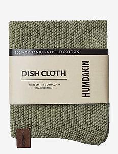 Knitted dishcloth - disktrasor & diskborstar - oak