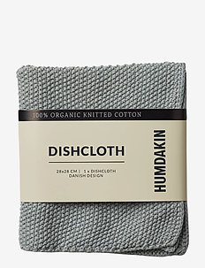 Knitted dishcloth - disktrasor & diskborstar - stone
