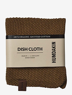 Knitted dishcloth - diskning & städning - sunset