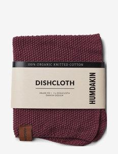 Knitted dish cloth - disktrasor & diskborstar - violet plum
