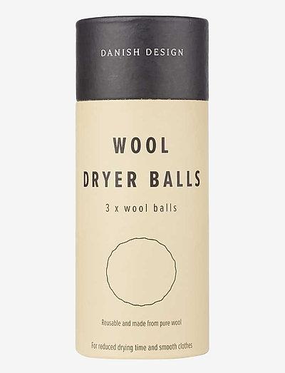 Wool dryer balls - 3 pack - skyllemiddel - no color