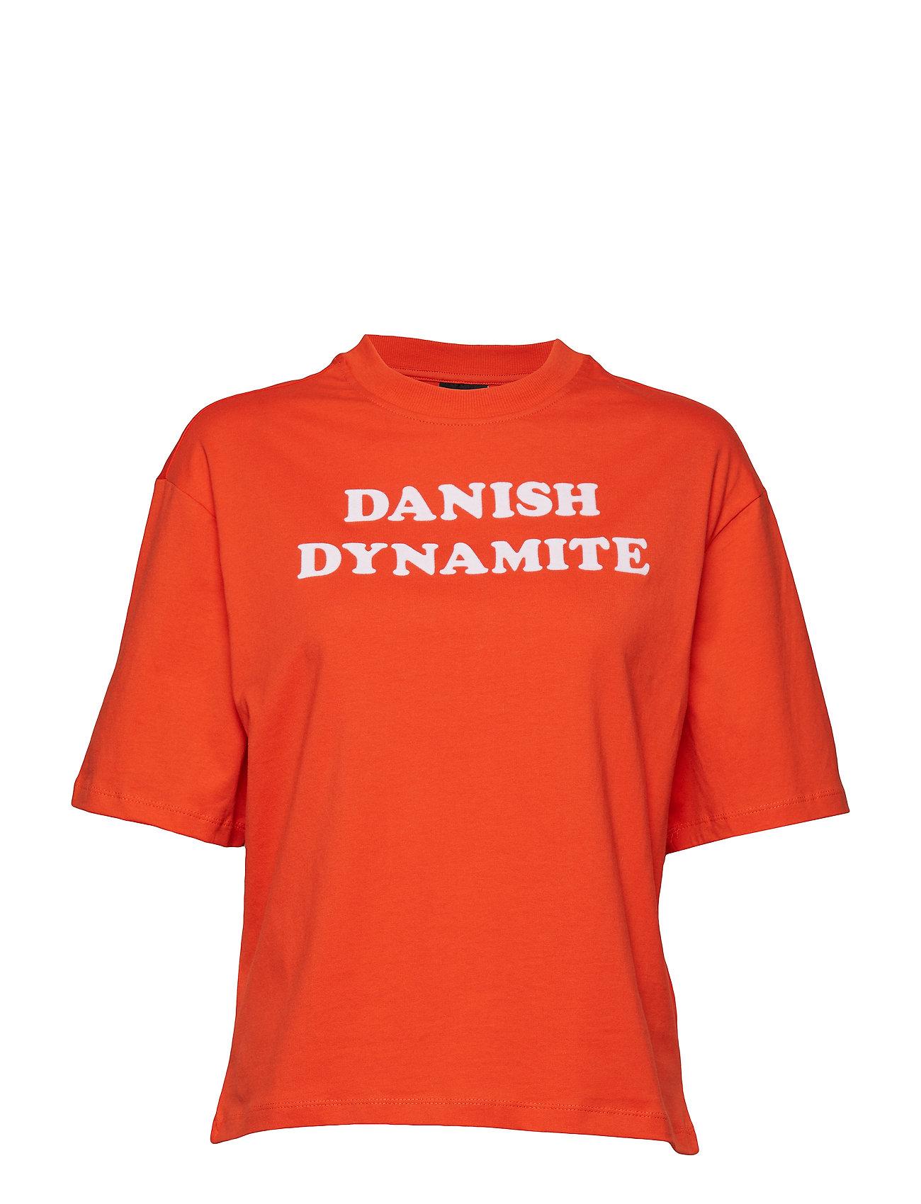 Hmlava T Shirt SS T shirt Top Rød HUMMEL HIVE