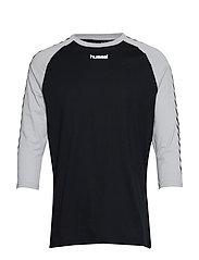 hmlANDREAS T-SHIRT 3/4 - BLACK