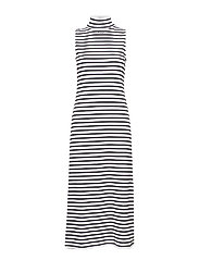 hmlALMA DRESS S/L - WHITE/BLACK