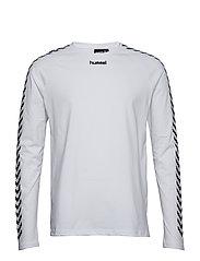 899a6b226e6 hmlAGGE T-SHIRT L S - WHITE