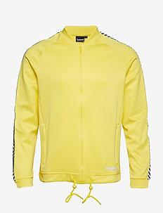 hmlANAKIN ZIP JACKET - sweaters - golden kiwi