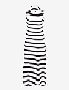 hmlALMA DRESS S/L - WHITE/BLACK