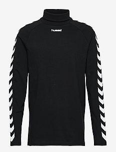 hmlCORNELIUS T-SHIRT L/S - logo t-shirts - black