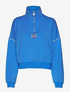 hmlCIA HALF ZIP - FRENCH BLUE