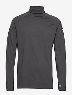 hmlWILLY TURTLENECK - sweatshirts - blackened pearl
