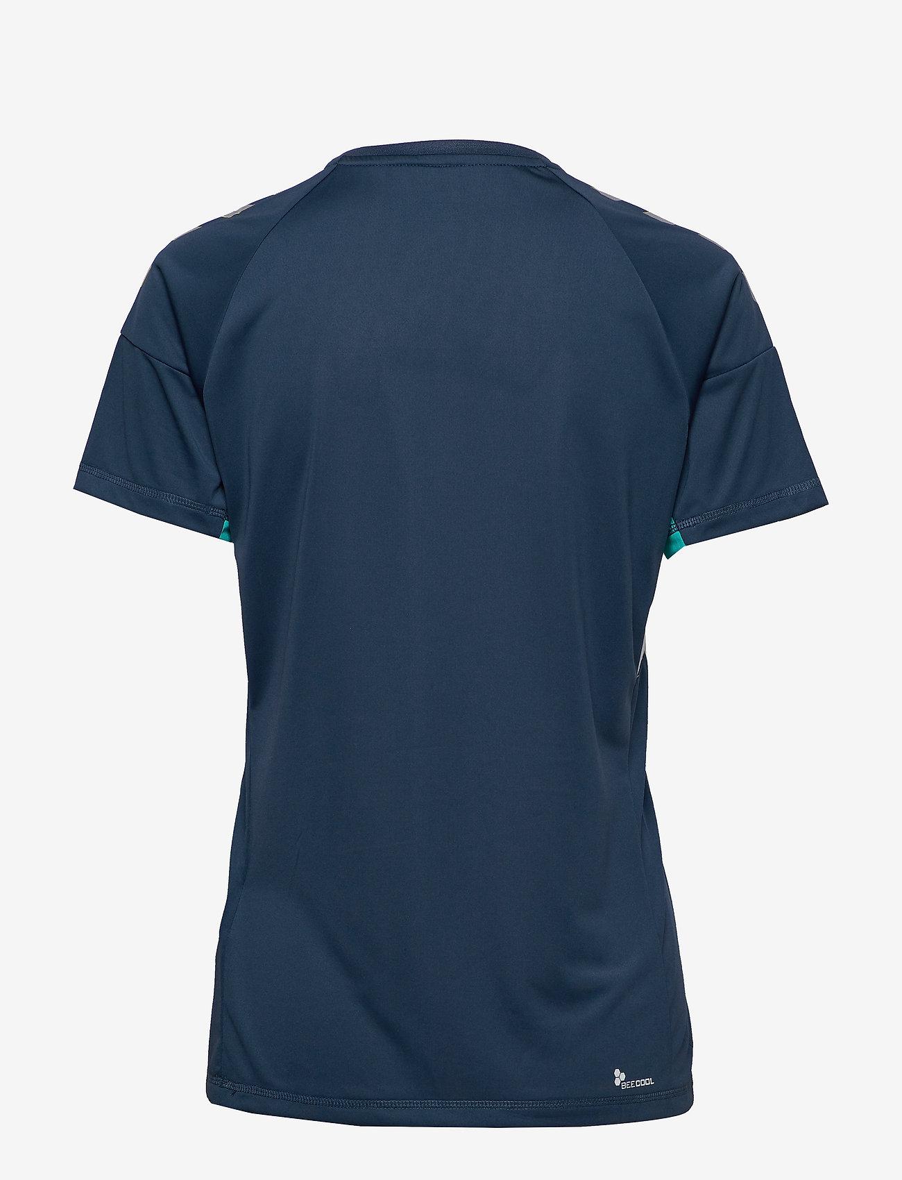 Hummel - TECH MOVE JERSEY WOMAN S/S - football shirts - sargasso sea - 1