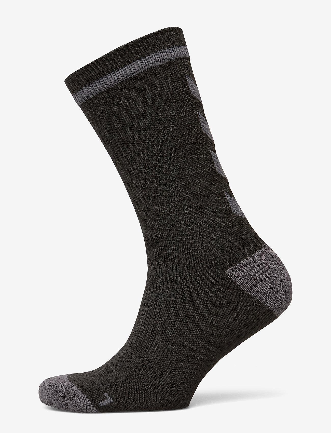 Hummel - ELITE INDOOR SOCK LOW - fodboldsokker - black/asphalt - 0