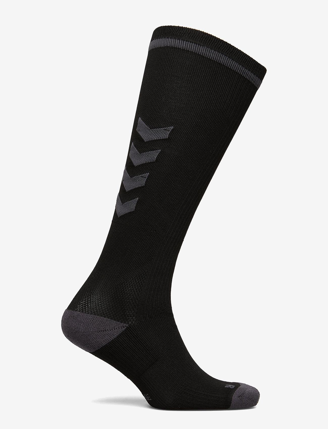 Hummel - ELITE INDOOR SOCK HIGH - jalkapallosukat - black/asphalt - 1