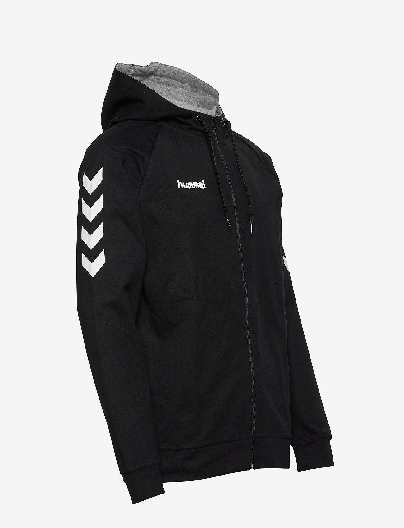 Hummel HMLGO COTTON ZIP HOODIE - Sweatshirts BLACK - Menn Klær
