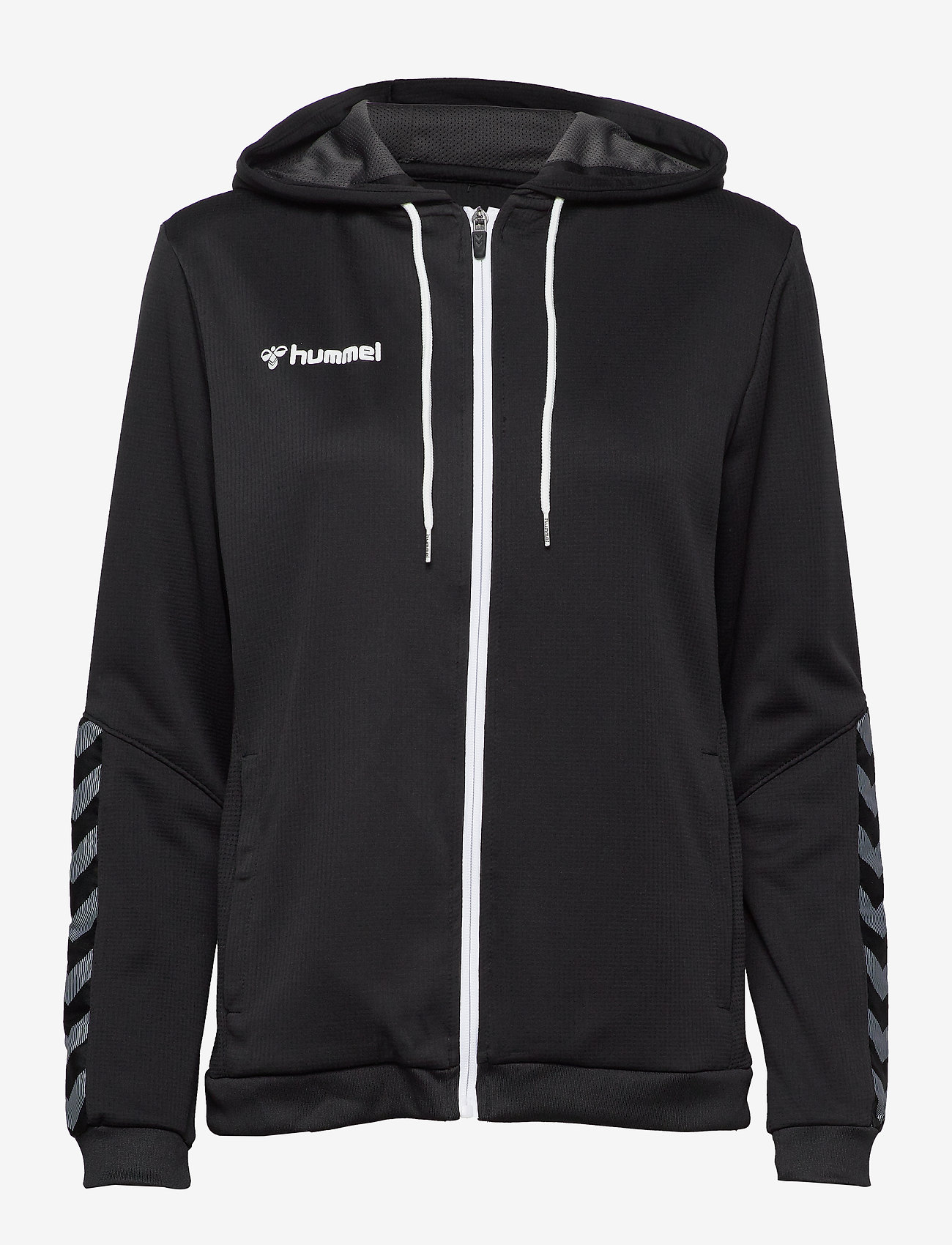 Hummel - hmlAUTHENTIC POLY ZIP HOODIE WOMAN - hoodies - black/white - 0