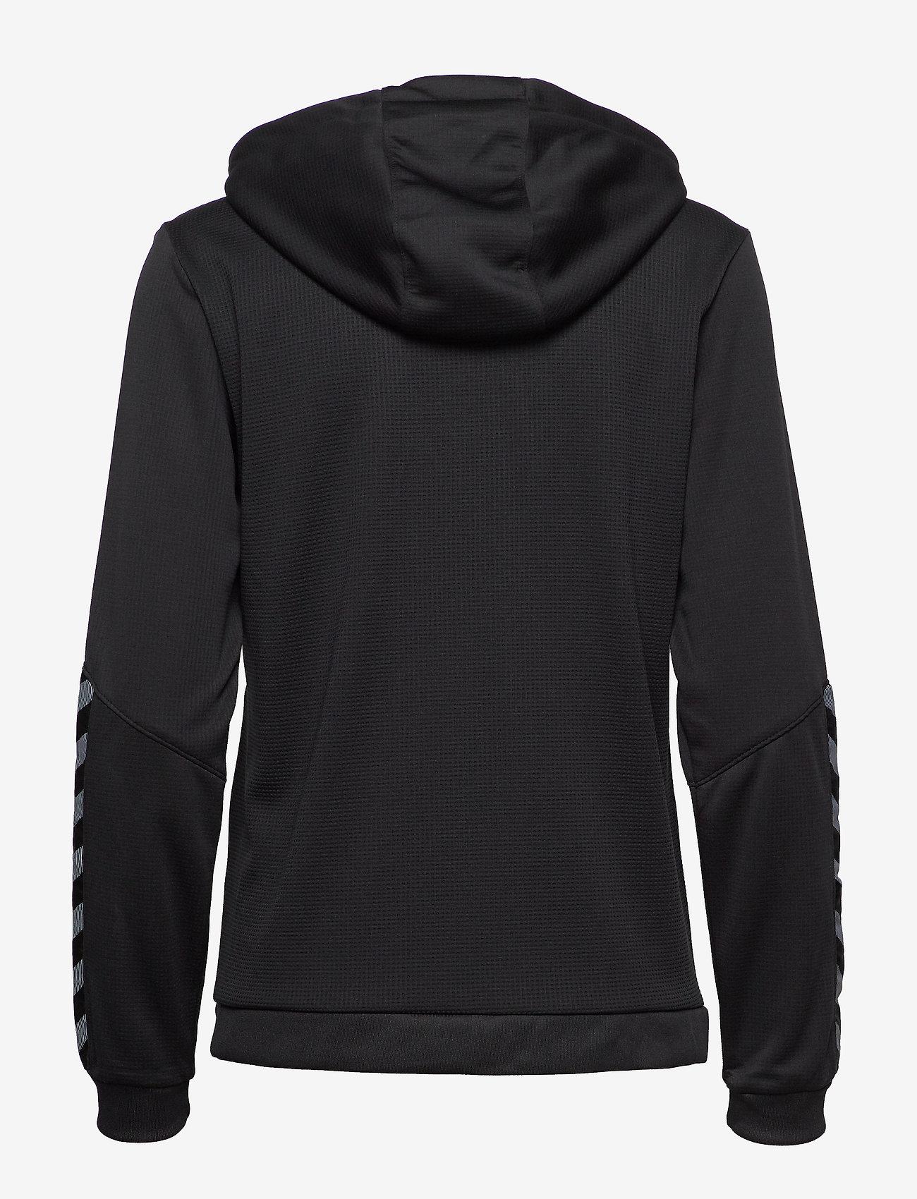 Hummel - hmlAUTHENTIC POLY ZIP HOODIE WOMAN - hoodies - black/white - 1