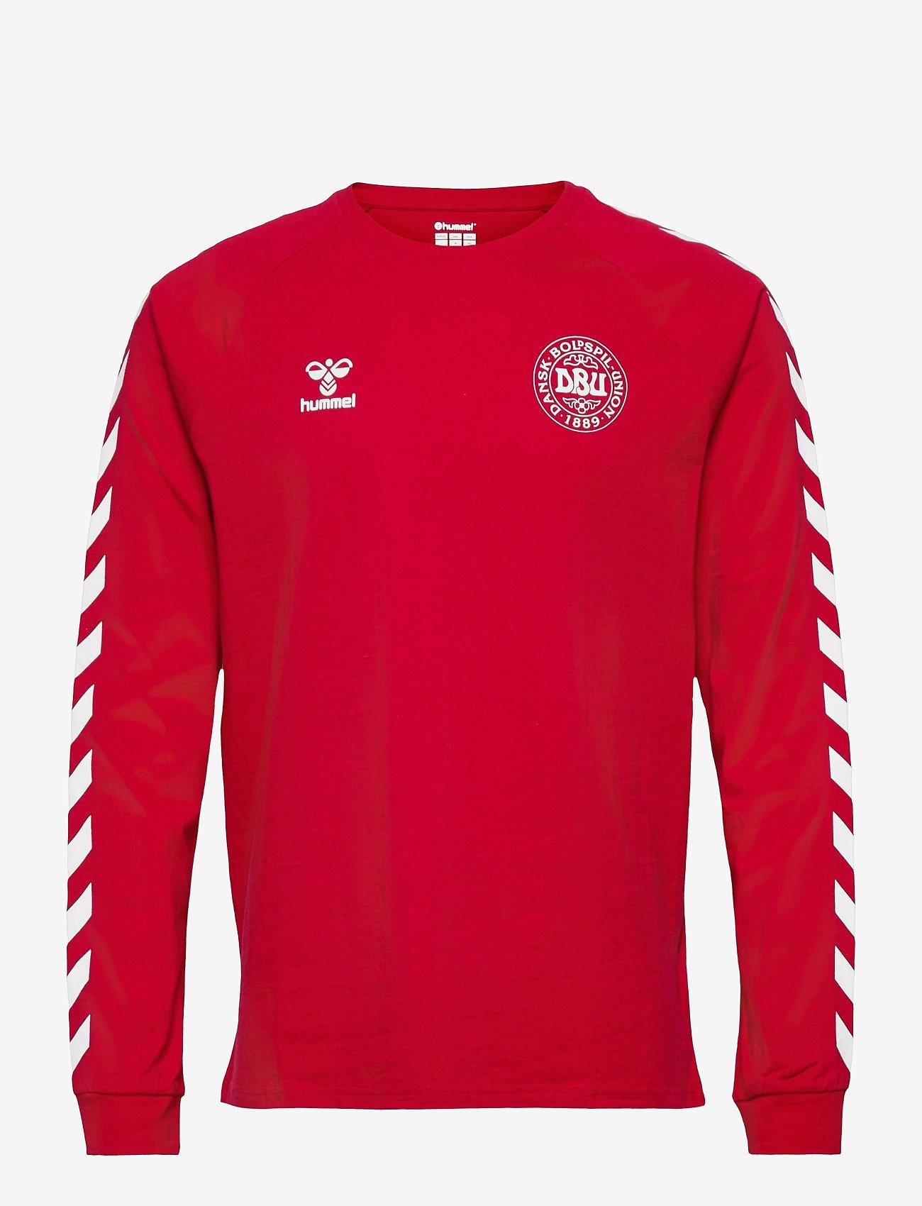 Hummel - DBU FAN 2020 COT. TEE L/S - football shirts - tango red - 0