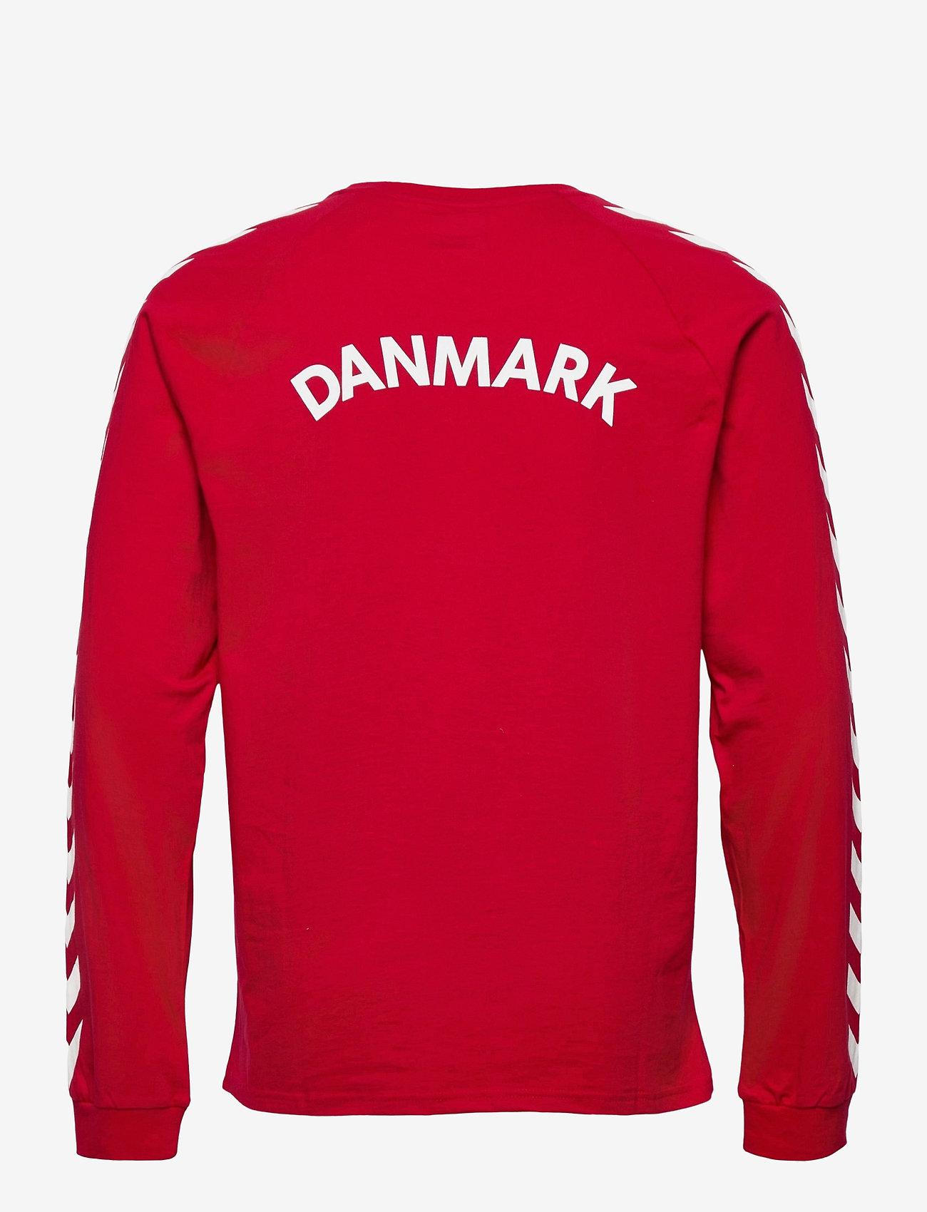 Hummel - DBU FAN 2020 COT. TEE L/S - football shirts - tango red - 1