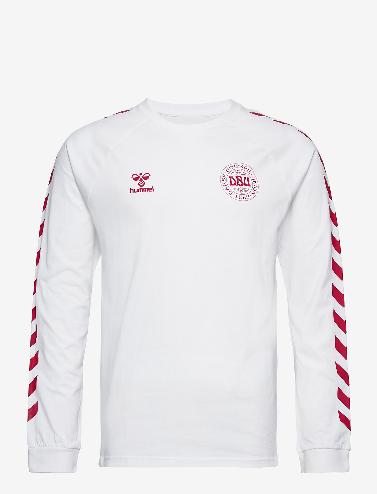Hummel - DBU FAN 2020 COT. TEE L/S - football shirts - white - 0