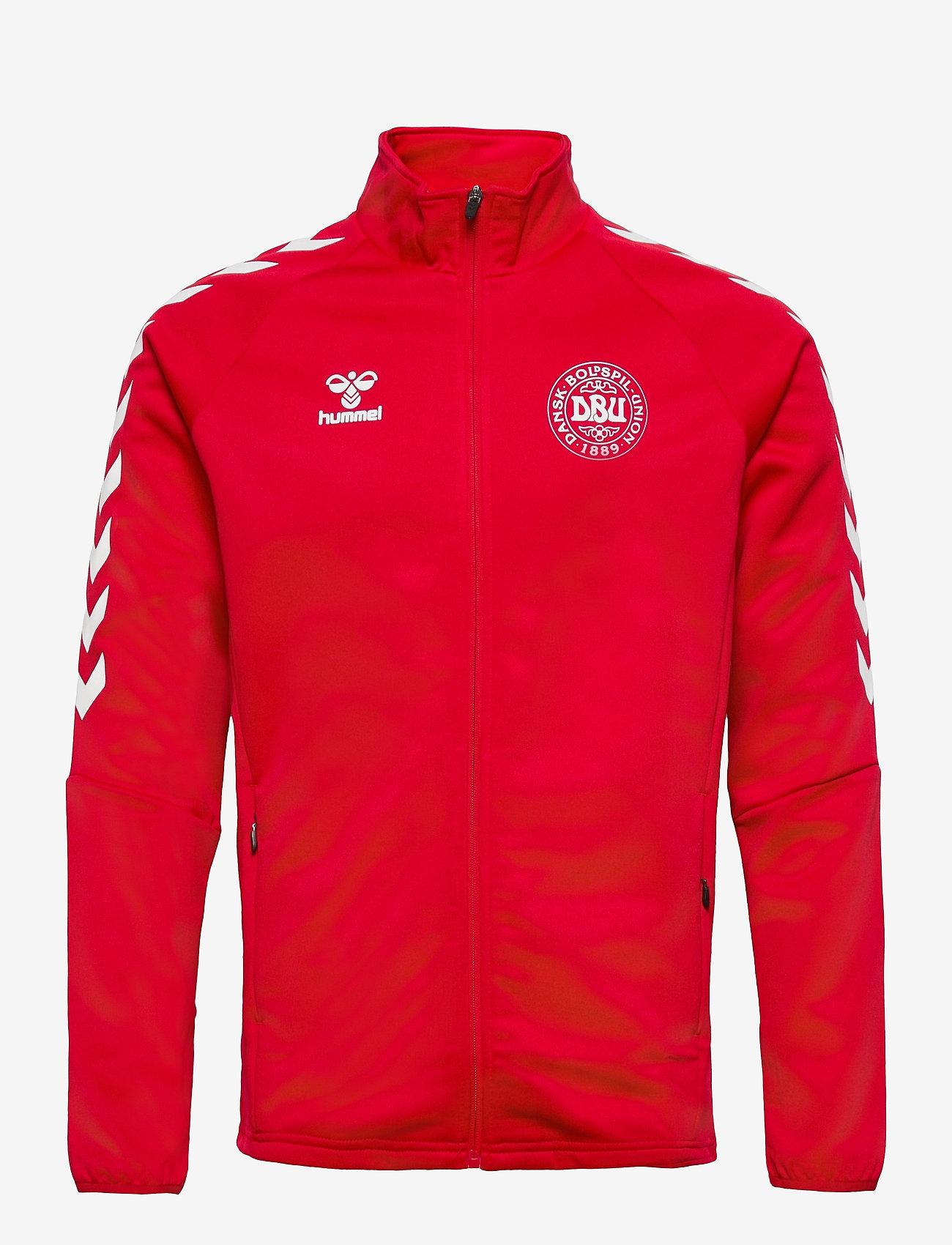Hummel - DBU FAN 2020 ZIP JACKET - sweaters - tango red - 0