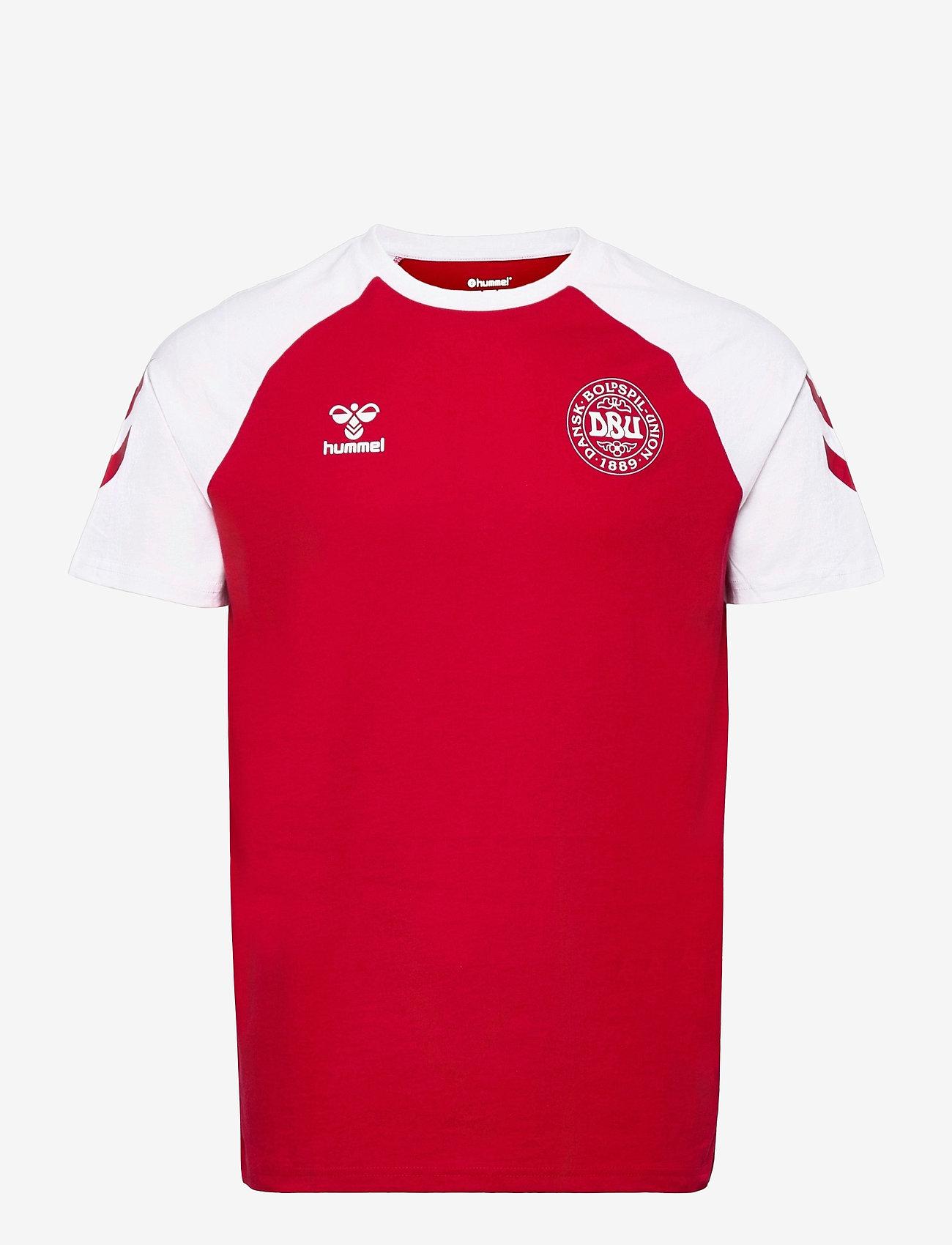 Hummel - DBU FAN 2020 COT. TEE S/S - football shirts - tango red - 0