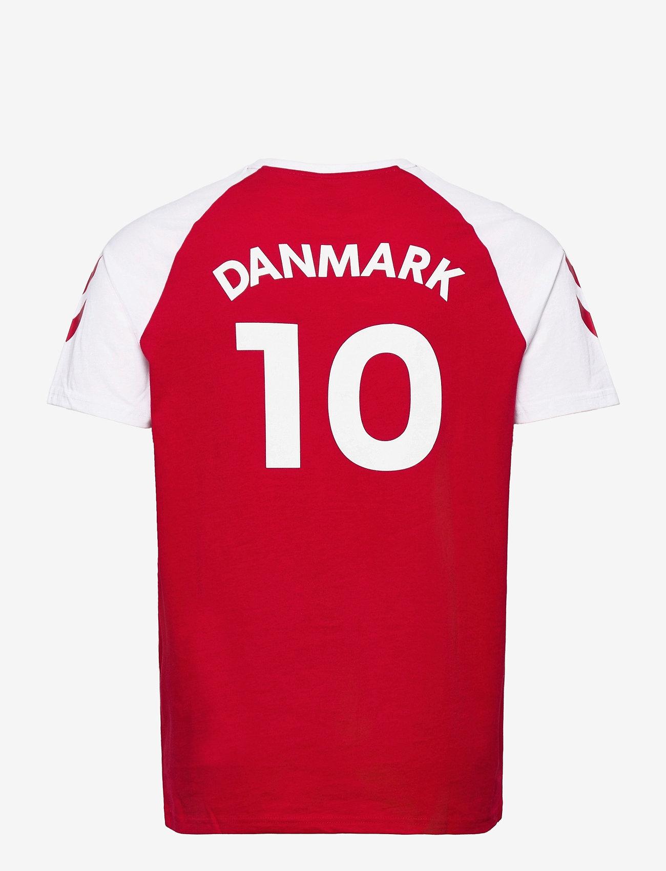 Hummel - DBU FAN 2020 COT. TEE S/S - football shirts - tango red - 1