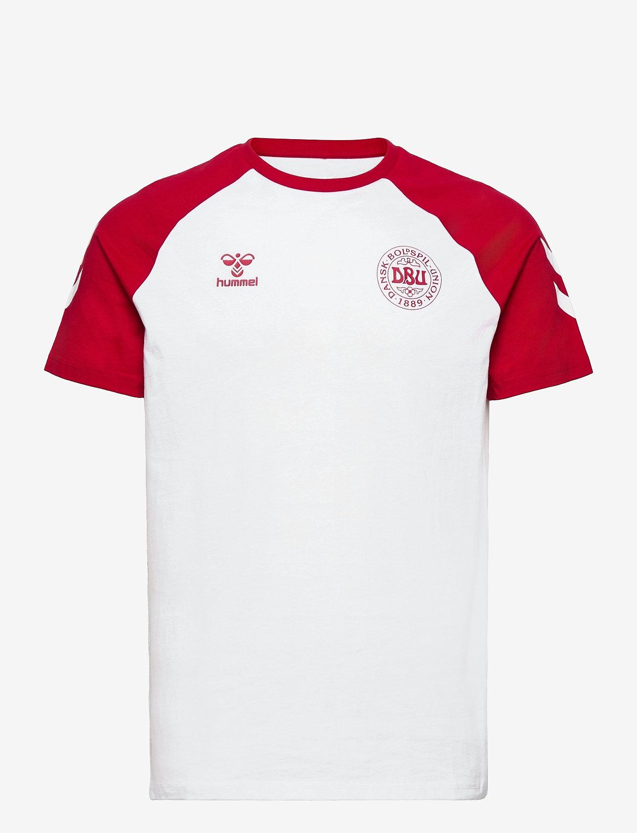 Hummel - DBU FAN 2020 COT. TEE S/S - football shirts - white - 0