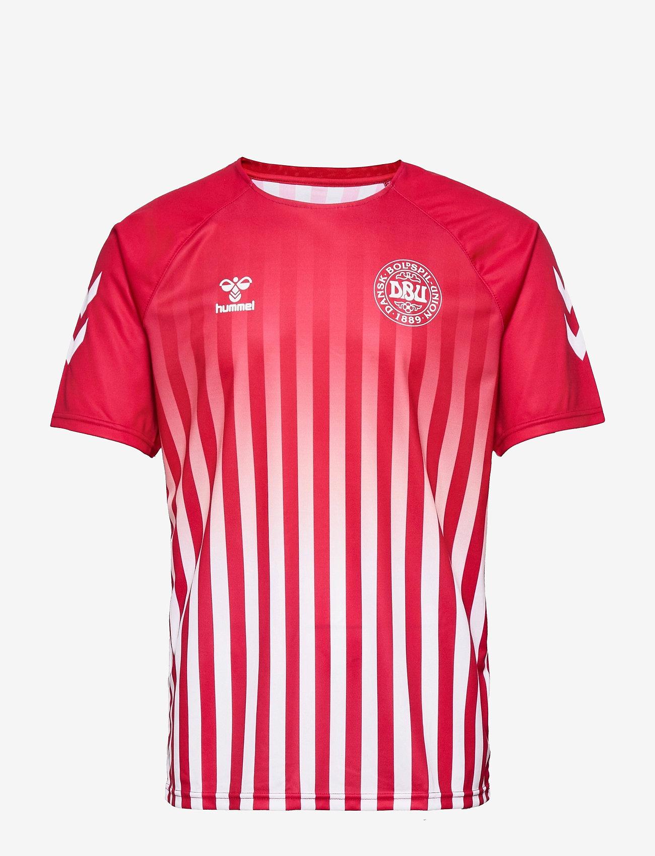 Hummel - DBU FAN 2020 RETRO TEE - football shirts - tango red/white - 0