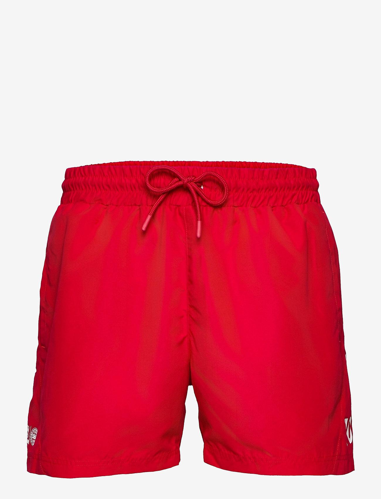 Hummel - DBU FAN 2020 SWIM SHORTS - shorts - tango red - 0