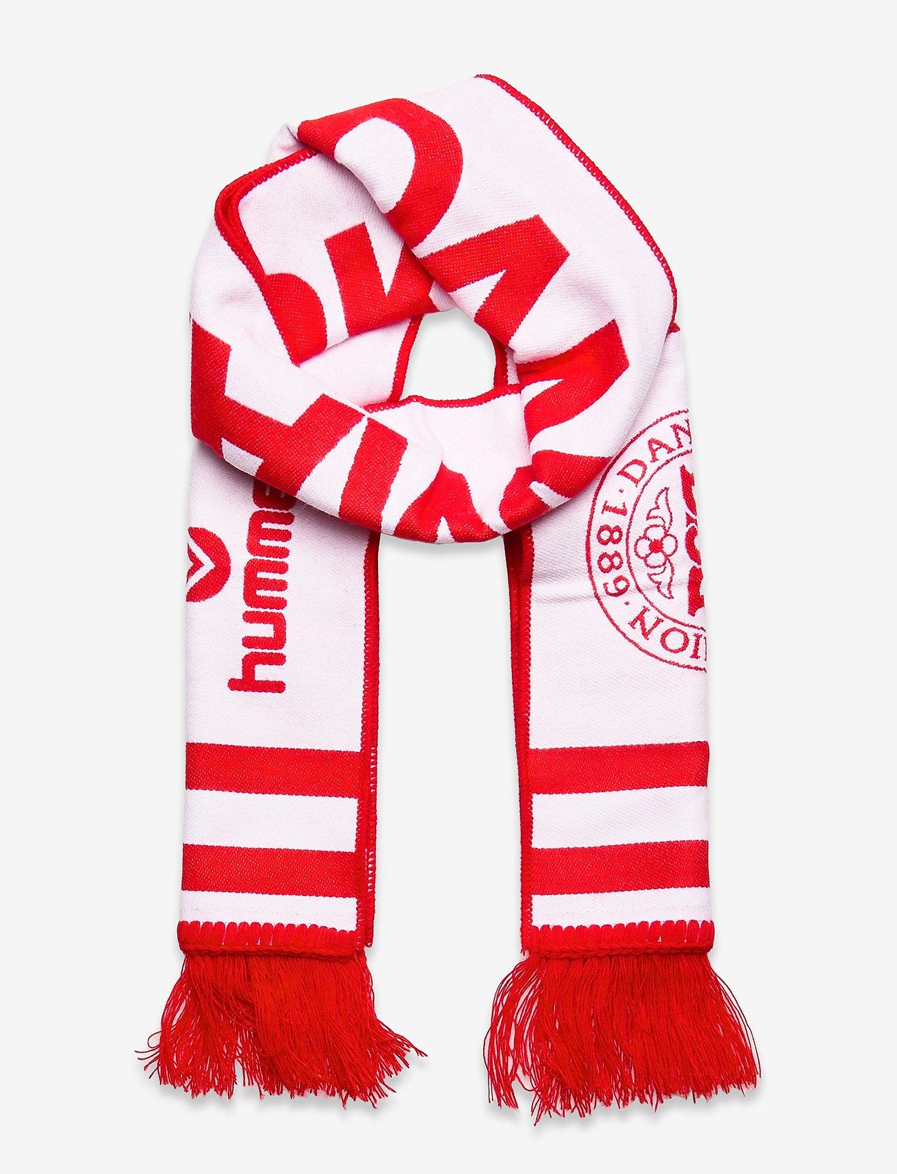 Hummel - DBU FAN 2020 HEAVY SCARF - accessories - tango red/white - 0