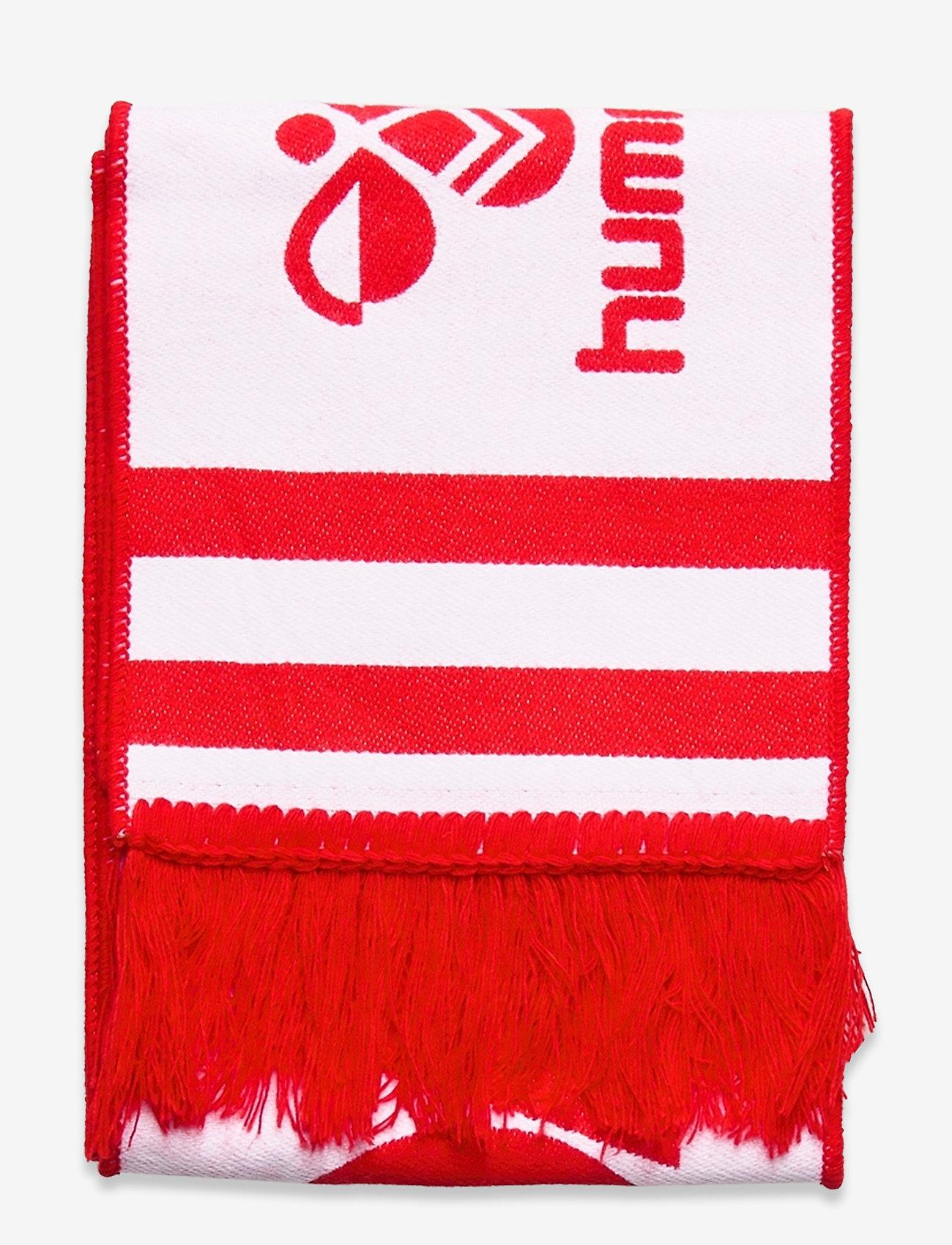 Hummel - DBU FAN 2020 HEAVY SCARF - tilbehør - tango red/white - 1