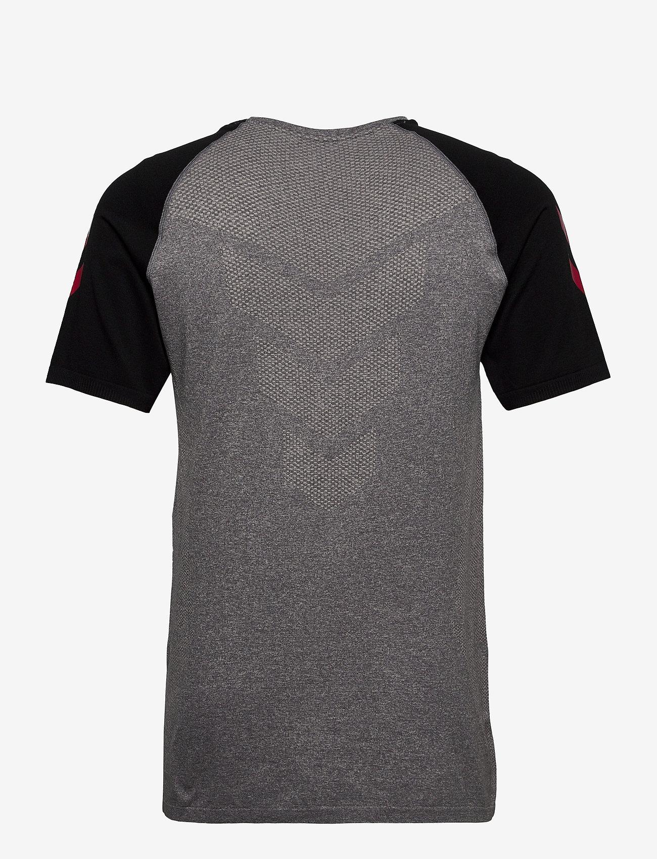 Hummel - DBU PLAYER PRO SEAMLESS JERSEY S/S - football shirts - dark grey melange - 1