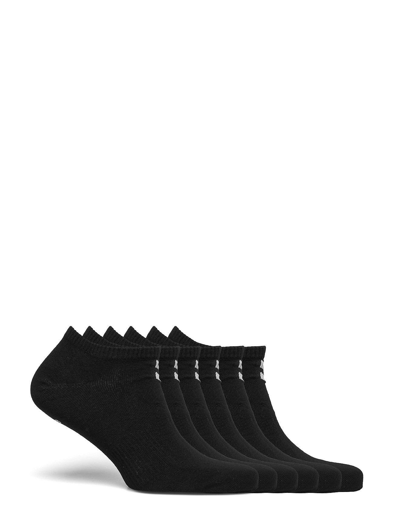 Hmlchevron 6-Pack Ankle Socks Ankelstrømper Korte Strømper Sort Hummel