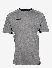 Hummel - TECH MOVE JERSEY S/S - football shirts - grey melange - 0